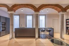 Apartment in Cremona by Altadimora Restaurant, Oversized Mirror, Interior Design, Gallery, Pictures, Furniture, Home Decor, Apartments, Kitchens