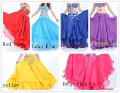 New belly dance Costume Three layers skirt 12 Color #DJ