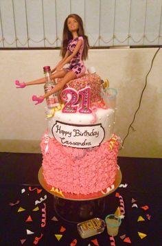 Drunken Barbie Cake!