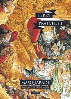Nouvelle édition ! Masquarade de Terry Pratchett, Les Annales du Disque-monde (livre 18, octobre 2016) ©Josh Kirby / Leraf