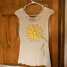 Graphic T-shirt Love me not flower Threads 4 Thought Tops Tees - Short Sleeve