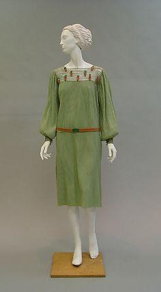 Ensemble Paul Poiret  (French, Paris 1879–1944 Paris)  Date: 1925–26 Culture: French Medium: wool, metal, leather.