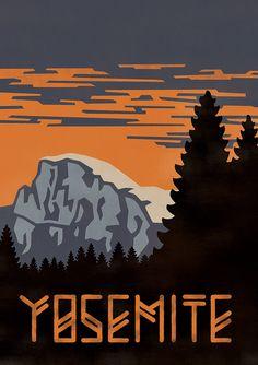 Yosemite Half Dome by Bret Baker
