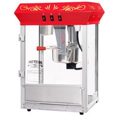 Great Northern Popcorn GNP-850 All Star Red Countertop Popcorn Machine