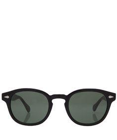 Moscot Black Lemtosh Round Sunglasses