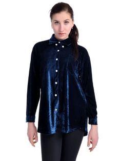 Anna-Kaci S/M Fit Blue Velvet Curtain Call Warm « Impulse Clothes