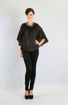 VaVa by VOOM Black Cut Out Whitney Blouse