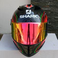 Red-Iridium (VZ100) Karting, Shark, Helmet, Red, Hockey Helmet, Cart, Helmets, Sharks
