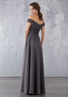 Crepe Social Occasion Dress with Beaded Venice Lace Appliqués Beaded Venice Lace Appliqués on Silky Crepe. High Low Prom Dresses, Best Prom Dresses, Dressy Dresses, Elegant Dresses, Bridal Dresses, Bridesmaid Dresses, Summer Cocktail Attire, Masquerade Dresses, Maxi Dress Wedding