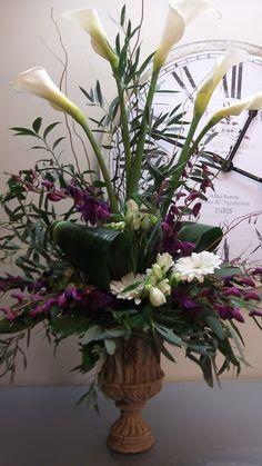 Calla Lillie arrangement by gary Pratt- le jardin Florals in Greensburg, PA
