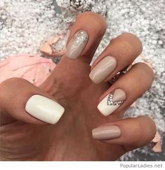 white-and-nude-nails-with-glitter-and-more