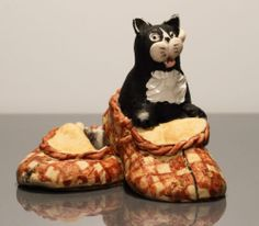 Peter Fagan Colour Box Miniatures - Cat with Slippers | eBay