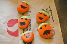 Painted Pumpkin Rocks and 4 other Halloween crafts your kids can make out of recycled materials | Offbeat Mama