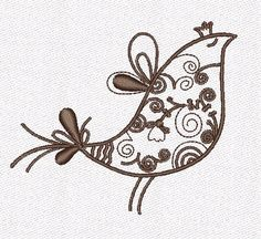 Bird Machine Embroidery Designs  by Froloffart on Etsy