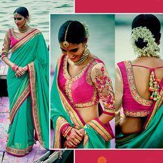 Bollywood Saree Party Wear Indian Ethnic Pakistani Designer Sari Wedding blouse…