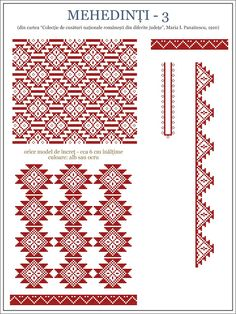 Bilderesultat for modele romanesti Cross Stitch Gallery, Cross Stitch Borders, Cross Stitch Designs, Cross Stitching, Blackwork Embroidery, Embroidery Sampler, Folk Embroidery, Embroidery Patterns, Beading Patterns