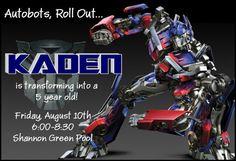Transformers Optimus Prime Birthday Invitation by SimplySprinkled, $13.00