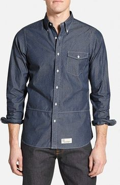 J. Press York Street 'Block' Slim Fit Diamond Print Sport Shirt available at #Nordstrom