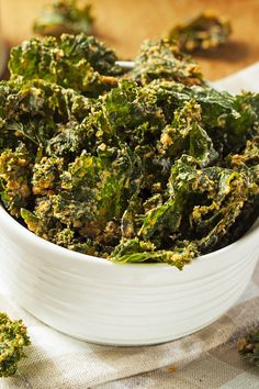 Recipe including course(s): Appetizer; and ingredients: extra-virgin olive oil, kale, kosher salt, yeast