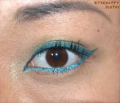 Blue and Green Eye Makeup
