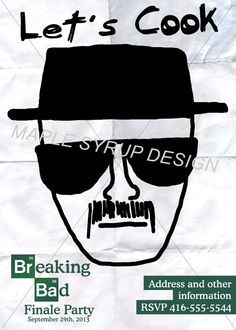 Breaking Bad Finale Party Invitation Heisenberg by MapleSyrupDesign
