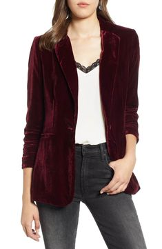 Shop the latest collection of Halogen Velvet Blazer (Regular & Petite) from the most popular stores - all in one place. Blazer Fashion, Fashion Edgy, Fashion Top, Fashion 2018, Cheap Fashion, Asian Fashion, Affordable Fashion, Daily Fashion, Fashion Boots