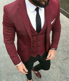 👏Check Out these Incredible Men's Casual Outfit Inspiration In Purple Color🍸 🦩 Check out Ideas of How to Wear Burgundy Shoes Outfit Mens Fashion Suits, Mens Suits, Fashion Outfits, Groomsmen Fashion, Men's Outfits, Fashion Clothes, Men's Fashion, Fashion Sale, Paris Fashion