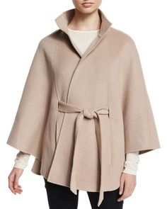 Neiman Marcus Cashmere Collection Cashmere Belted Cape