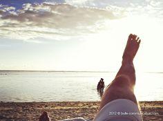 un bain de pied de soleil