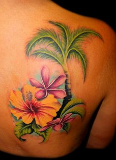 Tropical Flowers Tattoo
