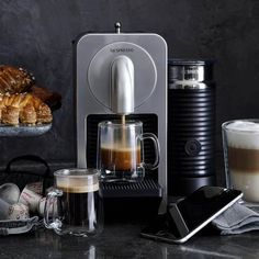 Order a latte right from your smartphone. Designed with built-in Bluetooth® connectivity, the #Nespresso Prodigio syncs wirelessly with your smartphone or tablet, so you can activate the brewer from bed or another room and have a perfect espresso drink waiting for you in minutes.  Click to Buy:https://goo.gl/2CNy6T  #coffee #coffeemachine #Nespressocoffee #luxury #electronics #globalgadgets