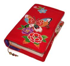 Large Bible Cover, Painted Lady Butterfly, Silk Kimono Fabric, Custom Sizes for a Made to Measure Book Cover, UK Seller