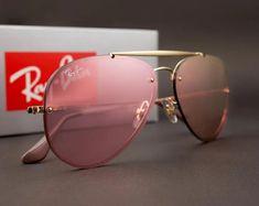 15e1797b5 Óculos Ray-Ban RB3584 Blaze Aviador – Rosa [Transparente]