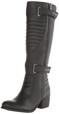 Carlos by Carlos Santana Women's Vesta Motorcycle Boot,Black,6 M US