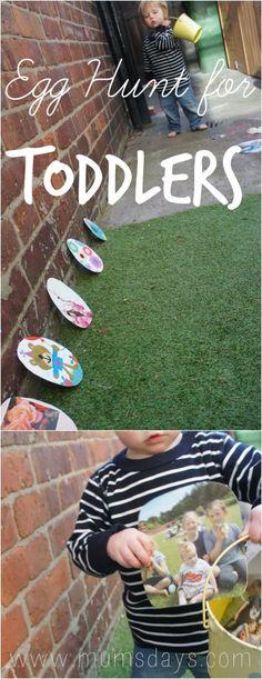 Toddler Easter Egg Hunt - Easter Activities http://www.mumsdays.com/family-tree-egg-hunt/