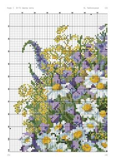 Gallery.ru / Фото #2 - Цветы лета - Belalilia Cross Stitch Needles, Cross Stitch Charts, Cross Stitch Patterns, Cross Stitching, Cross Stitch Embroidery, Heritage Crafts, Flower Phone Wallpaper, Bead Loom Patterns, Cross Stitch Flowers