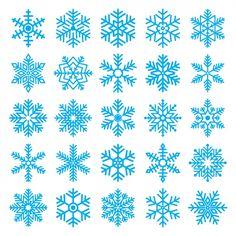 Copos de nieve diferentes Vector Gratis