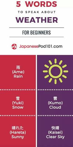 Five words to speak about the weather beginners JapanesePod101 Language Learning