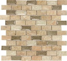 Glass Tiles | ... Travertine Marble Ceramic Green Tone Crackle Glass Mosaic Tile | eBay