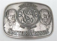 Vintage Smith & Wesson Photo | Smith Wesson 125th Anniversary Collector Vintage Belt Buckle | eBay