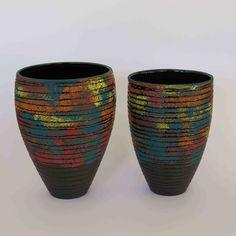 Colleen Lehmkuhl - Black lines on landscape vessel