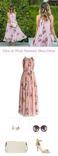 How to wear a summer maxi dress. chicwish.com Light, flowy and pretty swing dress. @laceandlocks