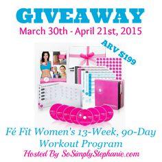 Fe Fit Workout Program Giveaway - Work Money Fun