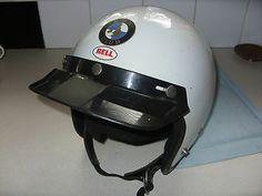 VINTAGE BELL MOTORCYCLE BMW CRASH HELMET | eBay