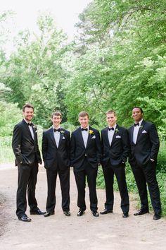 the groom + his men