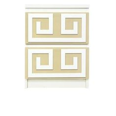 Picture of Greek Key Double O'verlays Kit for IKEA MALM (2 drawer)