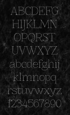 Free font Znikomit№25 by Grzegorz Luk, via Behance