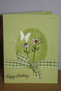 One layer daisy by WendyRN - Cards and Paper Crafts at Splitcoaststampers