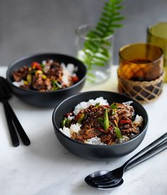 Fast Sichuan-style boiled beef with rice recipe :: Gourmet Traveller