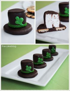 St Patricks Day Smores/other cute holiday treats Yummy Treats, Delicious Desserts, Sweet Treats, Yummy Food, Cake Recipes, Dessert Recipes, Baking Recipes, Beaux Desserts, St Patricks Day Food